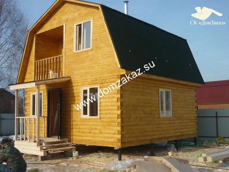 Фотоотчет дом из бруса